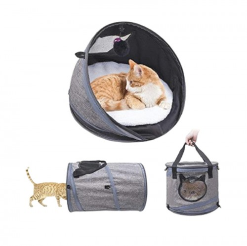 3 in 1 multifunctional collapsible Foldable portable cat tunnel carrier bag cage