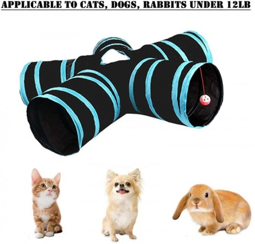 Cat hole tube, high-quality S-shaped 5-way tunnel retractable foldable cat tent interactive toy maze cat house bed