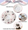 Recovery Pet Cone Collar for Cats and Small Dogs - Comfortable Donut Pattern Elizabethan Cat Collar