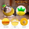 Soft Bread Slice Elizabeth Pet Recovery Cone for Cats Small Dogs, Cute Bread-Shaped Collar, Protective Neck Cone Toast Cat Headdress Headgear
