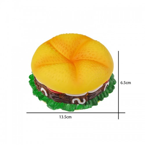 New Design Durable Dog Hemburger Suqeaky Shaped Chew Toys