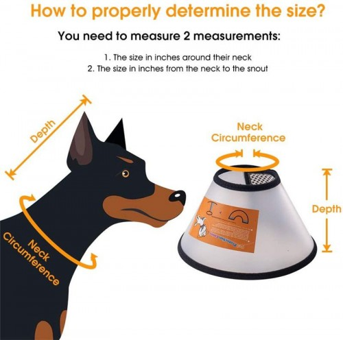 Pets Soft Edge Plastic Anti-bite Healing Safety Practical Protection Collar