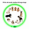 Cuttable Dog Safety Flashing Lights Glowing Pet Collar For Dogs