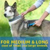 stainless steel sided open pet deshedding dematting tool fur brush comb
