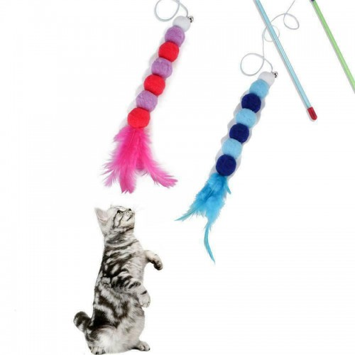 High Quality Natural Feather Cat Toy Cat Toy Mouse With Feather Tail