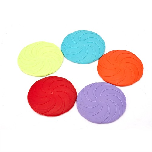 Pet discipline toys TPE dog molars training interactive game toy folding chew flying disc