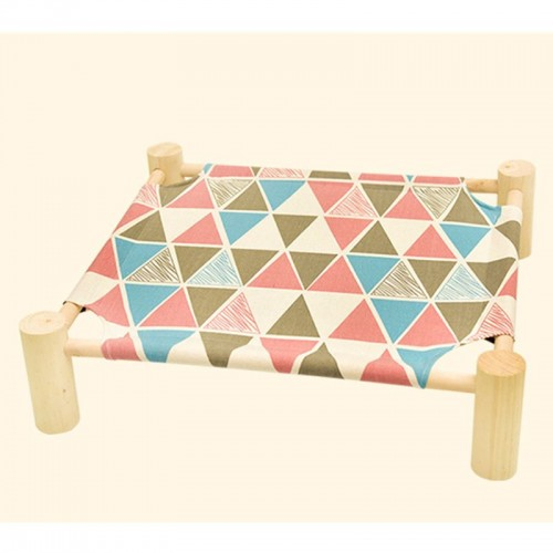 Hot sell new design comfortable Cat house cat bed Pet Travel Square Canvas House Tent Cat Bed Wood