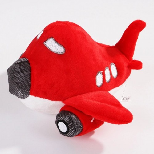 Wholesale Colorful Plane Shapes Squeaky Pet Chew Plush Dog Toy