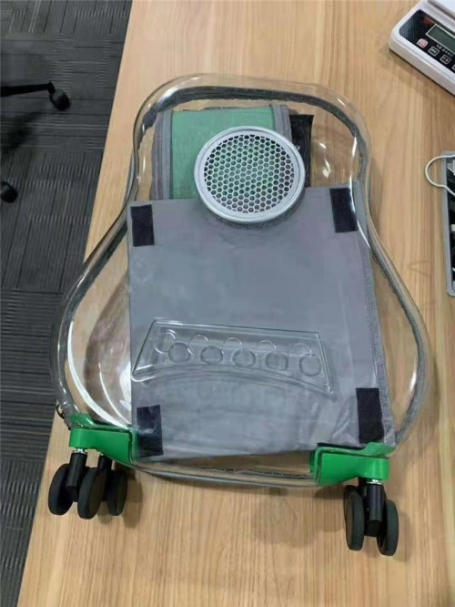 Transparent Capsule Pet Travel Bag Backpack for Puppies Dogs Cat Carriers Bag with Trolley Wheel Easy Carry for car Traveling.