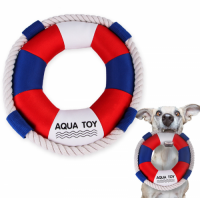 Dog Cotton Rope Toy Pet Plush Chew Toy Dog Swim Ring Toy