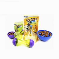 Pet Leaky Ball Toy Dog Leaky Ball Teddy Dog Puzzle Training Toy Tumbler Slow Food Snack Training