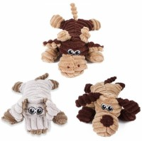 High-quality, durable, cheap and cute animal-shaped barking plush dog bite toy