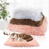 Winter Dog Bed Mat Soft Fleece Pet Cushion House Warm Puppy Cat Sleeping Bed Blanket For Small Large Dogs Cats