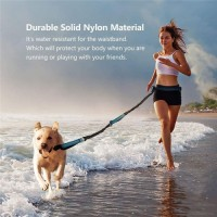 High Quality Double Elastic Running Pet Leashes Dog Rope Telescopic Type Glisten Leash
