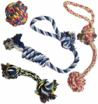 Puppy pet rope toy, suitable for small and medium-sized dogs (4 piece set)
