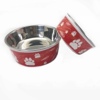 High quality Hot Selling Dog Bowls Pet Products Stainless steel Pet Feeder Dog Food Bowl Feeder