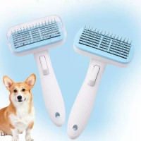 Professional Self Cleaning Steel Needle Slicker Massage Brush Pet Grooming Brush Comb for Dogs and Cats