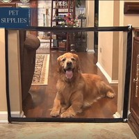 Magic Gate Dog Pet Fences Portable Folding Safe Guard Indoor And Outdoor Protection Safety Magic Gate For Dogs Cat