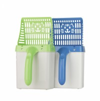 Pet Care Products Cat Litter Shovel Pet Cat Litter Sifter Hollow Cat Sand Cleaning Scoop with Poop Bags