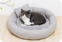 Color Kennel Deep Sleep Bed Long Hairy Winter Plus Velvet Thickening Cat Sleeping Beds For Pets