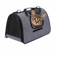 soft-sided airline approved portable pet carrier with breathable mesh window