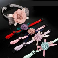 New Style Cute Pets Adjustable Dog Cats Collars Puppy Pet Collars with Bowknot and Flower Necklace Collar For Dogs