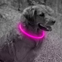LED Pet Dog Neck Ring Light Collar, Dog Visible And Safe