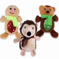 New Christmas Pet Dog Toys Chew Squeaker Pet Plush Toys For Dogs Biting Toys