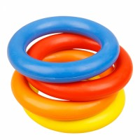 hot sell new products free samples rubber o rings colored rubber ring toy for pet dog