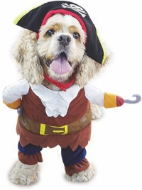 Funny pet costume pirate cat costume set pirate ship dress up party costume cat dog plus hat