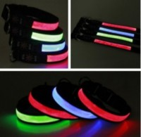 Led Adjustable Necklace Visibility Flashing Safety Reflective Glowing Dog Collar