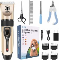 Wholesale Custom Logo USB Pet Clippers Usb Electric Nail Hair Dog cat Grooming Products Pet Trimmer Set kit shaver