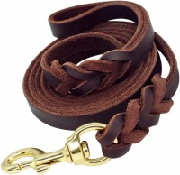 Soft And Sturdy Leather Premium Pet Leash Lead Training And Walking Braided Dog Leash