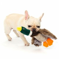 Hot Selling Interactive training Plush Dog Toy Duck