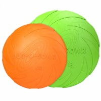 Hot Sale Dog Training Round Plate Non-toxic Float Natural Rubber Dog Chew Indestructable Toy