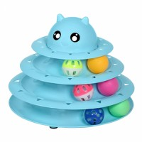 Cat toy roller cat toy 3-story tower track roller 6 colorful balls interactive kitten fun body exercise puzzle toy