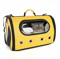 Airline approved breathable foldable soft-sided pet travel dog cat carrier bag