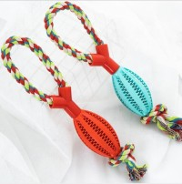 Dog Rope Toy Biting Resistant Knot Pet Chew Toy Large Size Cotton Rope eco friendly dog toy