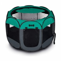 Pets Portable Foldable Pet Playpen Carrying Case Indoor Outdoor Water resistant Removable shade cover Dogs Cats Rabbit